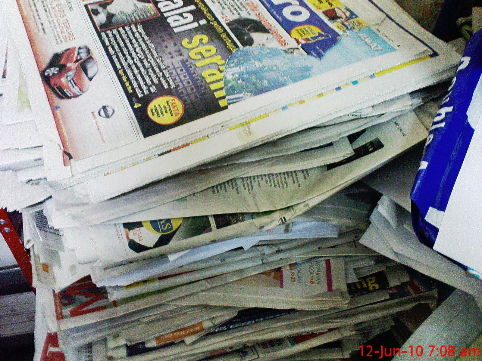 surat khabar lama | Sekamarrindu2009's Blog